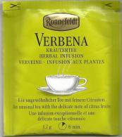 TEA BAG  (FULL) SACHET DE THÉ  VERBENA - Unclassified