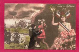 Prise De MULHOUSE 1914, Animée, Dirigeable, (Haut-Rhin 68) - Guerra 1914-18