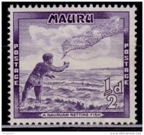 Nauru 1966, Nauruan Netting Fish, 1/2p, MLH - Nauru