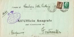 18898. Carta Impresos Servicio CASTIONE Delle PRESOLANA (Bergamo) 1942 - 1900-44 Vittorio Emanuele III