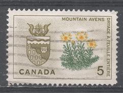 Canada 1966. Scott #429 (U) Mountain Avens And Arms Of Northwest Territories - 1952-.... Règne D'Elizabeth II