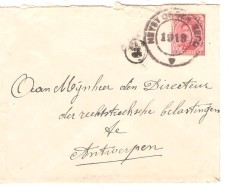 TP 138 S/L.c. Fortune Heyst Op Den Berg 1919 V.Antwerpen PR3295 - Postmark Collection