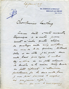 Victor BOUCHER Théâtre De La Michodière - Autographes