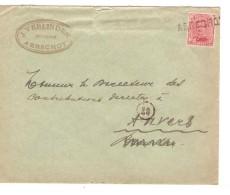 TP 138 S/L.c. Fortune Griffe Aerschot (Aarschot) V.Antwerpen PR3299 - Postmark Collection
