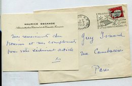 MAURICE ESCANDE Acteur Comedie Française - Autographes