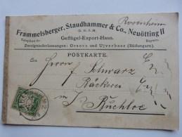 Geschäftspostkarte Rosenheim- Buchloe, 1909 - Transport