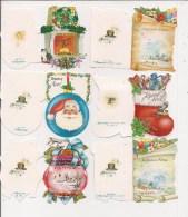 Saisons & Fêtes - Noël - Joli Lot De 12 Etiquettes Cadeau -  (toutes Différentes) - Xmas