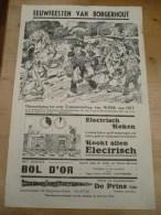 Affiche Eeuwfeesten Borgerhout 1936 Alfred Ost Tentoonstelling 33 Op 21 Cm - Affiches