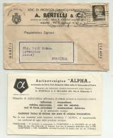 SOCIETA PRODOTTI CHIMICO FARMACEUTICI A.BERTELLI BUSTA CON COUPON - Unclassified