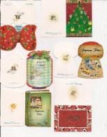 Saisons & Fêtes - Noël - Joli Lot De 18 Etiquettes Cadeau -   (toutes Différentes) - Noël