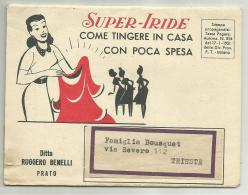 SUPER IRIDE TINTA PER VESTITI 1951 LIBRETTO - Advertising