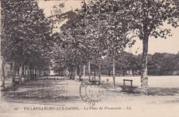 VILLEFRANCHE-sur-SÂONE  La Place Du Promenoir - Villefranche-sur-Saone