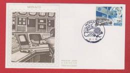 Monaco  / 1 Er Jour / 26-04-91 / Eutelsat - FDC