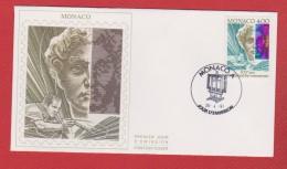 Monaco  / 1 Er Jour / 26-04-91 / Art Contemporain - FDC