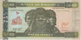 (B0409) ERITREA, 2011. 50 Nakfa. P-9. UNC - Eritrea