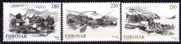FÄRÖER 1982 - MiNr: 72-74 Dörfer Komplett  ** / MNH - Färöer Inseln