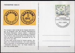 FÄRÖER 1975 - Phil. Briefkarte Nr: 9 - Färöer Inseln