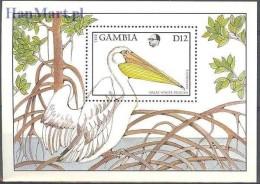 Gambia 1988 Mi Bl 44 MNH -  Ptaki Wodne  ( ZS5 GMBbl44 ) - Cigognes & échassiers