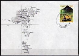 FÄRÖER 1990 - Sonderkuvert Mit MiNr: 198 Used - Färöer Inseln