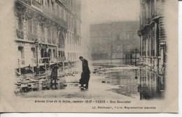 CPA - GRANDE CRUE DE LA SEINE - JANVIER 1910 - PARIS - RUE BOCCADOR - Alluvioni Del 1910