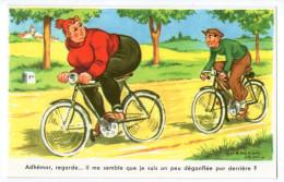 ILLUSTRATEUR JEAN CHAPERON    HUMOUR CYCLISME   ADHEMAR REGARDE IL ME SEMBLE QUE JE SUIS UN PEU DEGONFLEE - Chaperon, Jean