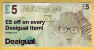 ROYAUME UNI - GRANDE BRETAGNE - Billet De 5£. DESIGUAL. 2012 - [ 8] Fakes & Specimens
