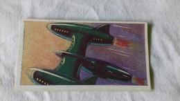 SPACE SCI-FI - 1959 UK - SAILING INTO SPACE - BARRATT CARDS  # 25 - SPACE TRANSPORTER - UFO SOCOUPE OVNI SCI FI - Cromos
