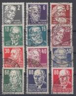 DDR Lot Köpfe II Gestempelt - Briefmarken