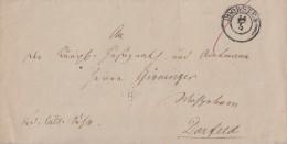 Brief Gel. Von K2 Dorsten 14.5. Nach Dorstfeld - Deutschland