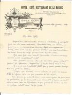COURRIER EMILE GOIN HOTEL CAFE DE LA MARINE à BARCELONNETTE 1934 - France