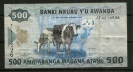 RWANDA.  500 Francs Rwandais, Billet Bon état - Rwanda