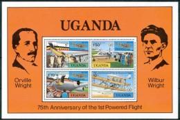 1978 Uganda Orville - Wilbur - Wright Aerei Aircraft Avions Block MNH** Y86 - Niue