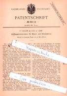 Original Patent  - F. Valon & Co. In Genf , 1886 , Uhren !!! - Historische Dokumente