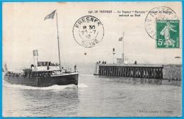 """CPA 76 LE TREPORT - Le Vapeur """"Mercure"""" Venant De Dieppe Entrant Au Port ° Edition Arnault * Bateau Ship - Le Treport"""