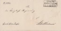 Preussen Brief R3 Berlin Stadtpost-Exp.VIII 17.3. Gel. Nach Stettin - Preussen