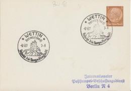 DR Privat-GS Minr. PP122 SST Wettin 6.4.37 - Deutschland