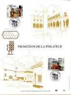 Feuillet D´art Tirage Limité 500 Exemplaires Frappe Or Fin 23 Carats 2624 2625 Promotion Philathélie Musée - Panes