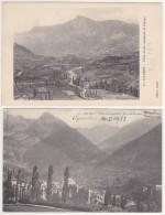 Sallent De Gallego (2 Postcards, 1x With Stamp) 1913 - Huesca