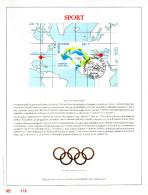 Feuillet D´art Tirage Limité 500 Exemplaires Frappe Or Fin 23 Carats 2648 Bloc 72 Sport Jeux Olympique Saut Spa - Panes