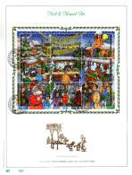 Feuillet D´art Tirage Limité 500 Exemplaires Frappe Or Fin 23 Carats 2671 à 2679 Bloc 73 Noël Et Nouvel An - Feuillets