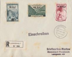 Luxemburg R-Brief Mif Minr.30,31,32 Luxemburg 7.1.41 - Besetzungen 1938-45