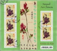 France Oblitération Cachet à Date BF N° F 4131 Nouvelle Année Chinoise -> Le Rat - Sheetlets