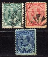 KANADA 1903-1908 - Lot 3 Verschiedene Used - 1903-1908 Edward VII