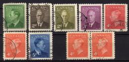 KANADA 1949 - MiNr: 250-255 + Paar Komplett Used - 1937-1952 George VI