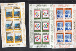 Europa - 1977 GIBRALTAR Minifogli Perfetti ** - Europa-CEPT