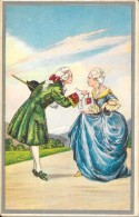CP COLORISEE FANTAISIE - Couple En Tenue D'Epoque  - ENCH0616 - - Femmes