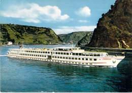 "BATEAU DE PROMENADE ( DEUTSCHLAND Allemagne ) Kabinenschiff M.S. "" FRANCE ""Köln Düsseldorfer - Cruise Ship Sightseeing - Bateaux"
