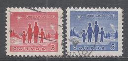 Canada 1964. Scott #434-5 (U) Christmas: Family And Star Of Bethlehem - 1952-.... Règne D'Elizabeth II