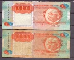 Angola 2 X 100000 Kwanzas   RARE !! - Angola