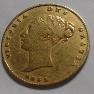 RARE : 1853 HALF  SOVEREIGN GOLD COIN FROM VICTORIA - 1816-1901 : Acuñaciones S. XIX